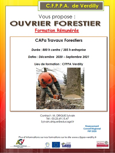formation ouvrier forestier